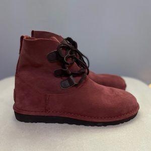 Ugg Elvi Harness Boots Maroon Size 8